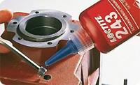 Loctite 243. Анаэробный фиксатор-герметик резьбовых соединений, фланцевого крепежа. Средняя прочность.