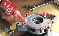 Loctite 510. Уплотнитель-прокладка для жестких фланцев. Медленная полимеризация