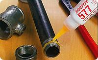 Loctite 577. Анаэробный уплотнитель металлической резьбы. Для крупной резьбы