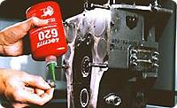 Loctite 620. Вал-втулочный фиксатор. Средняя/высокая прочность. Для зазоров по диаметру до 0.25 мм. Высокая термостойкость